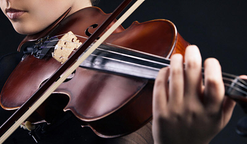 warm up exercises on the violin