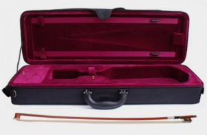 Violin case and bow