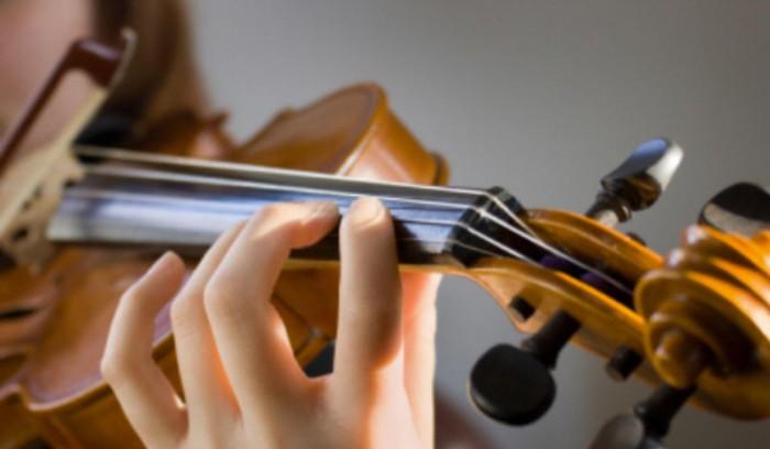 gamme de la majeur au violon
