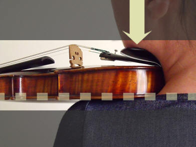 holding a violin 2