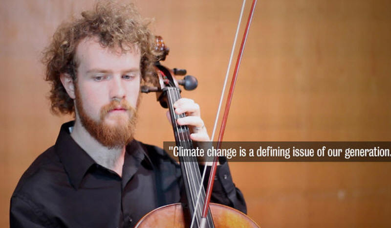 global warming on the violin