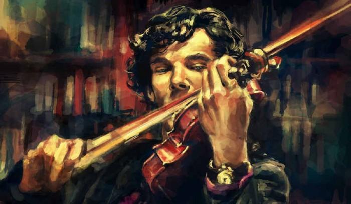 sherlock Holmes et le violon