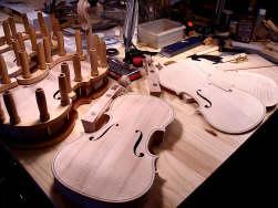 Fabrication des violons