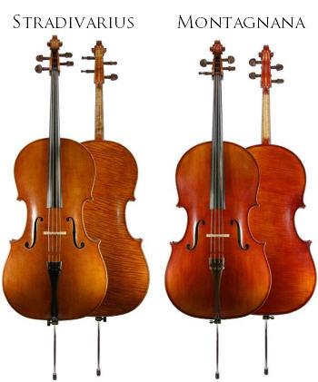 différences cello Montagna et Stradivarius