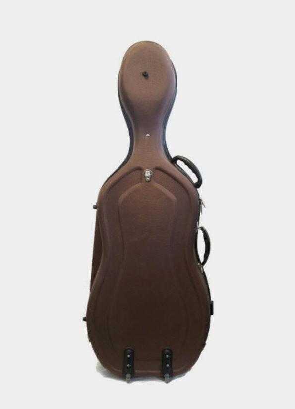 étui de violoncelle marron ultra rigide dos